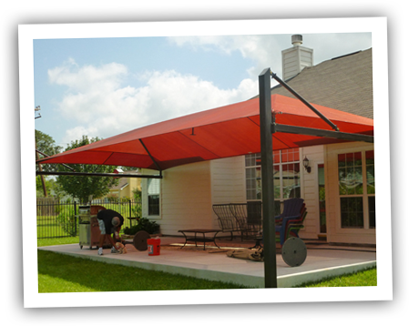Garden awnings shade sails garden ftempo for Sun shade structure