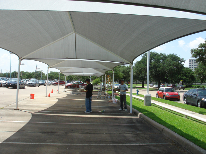 Awnings For Cars : Car wash shade structures sails canopies awnings