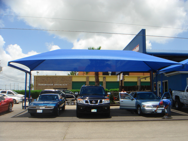 Outdoor Tents For Cars : Car wash shade structures sails canopies awnings