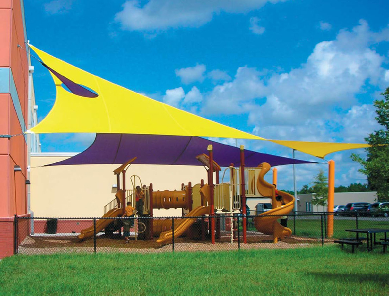 Playground Shade Sails & Outdoor Playground Shade Structures Sun Shade Sails Canopies ...
