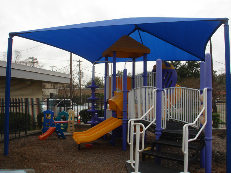 Outdoor playground shade structures sun shade sails for Sun shade structures