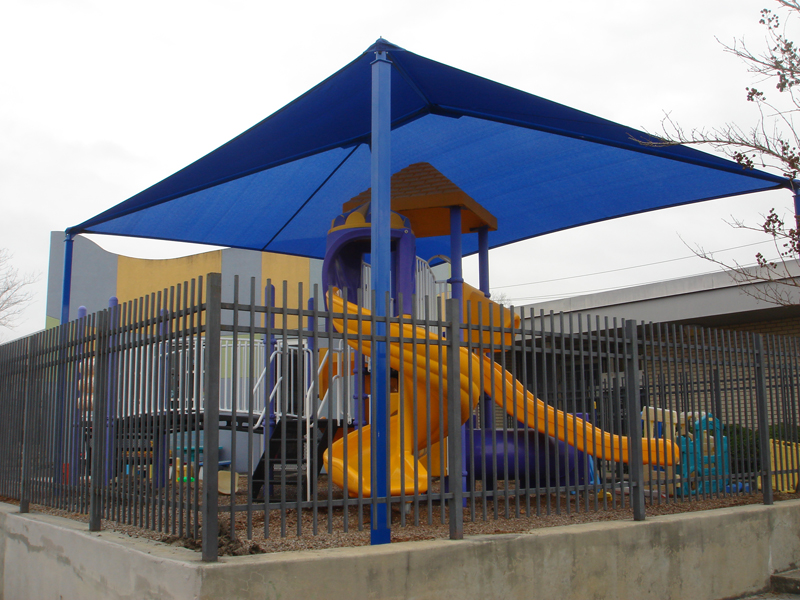 Outdoor playground shade structures sun shade sails for Shade structures