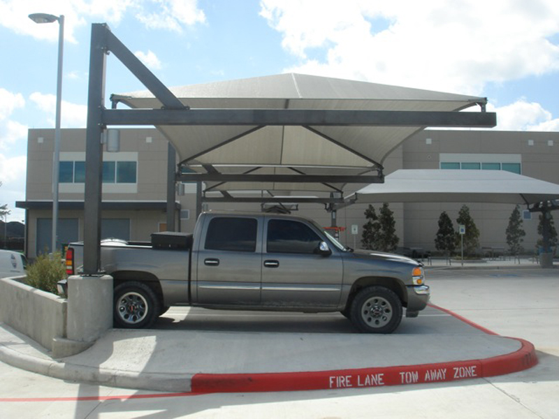 Affordable Canopy Parking & Parking Shade u0026 Parking Lot Shade Sails Shade Structures ...