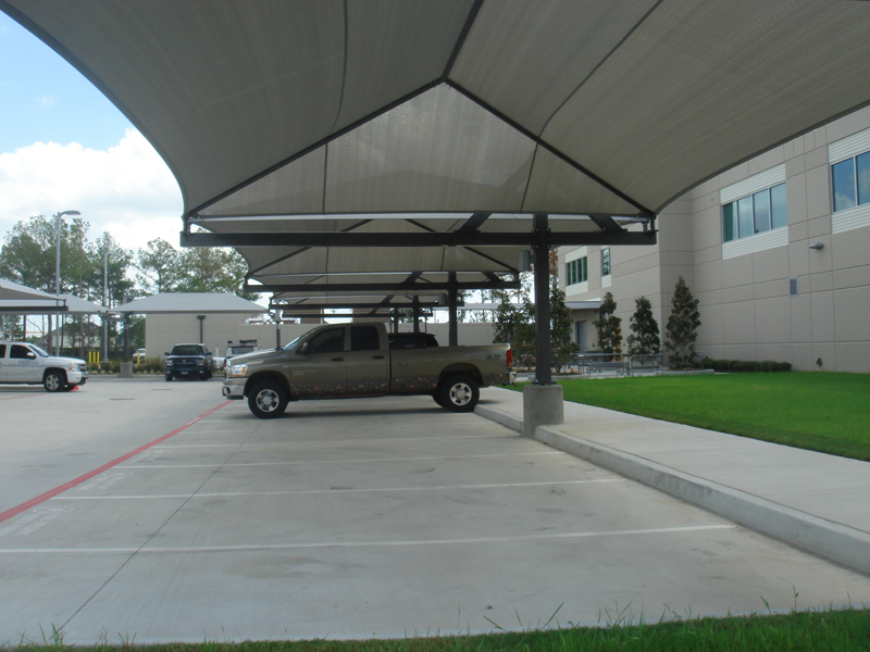 Car Shade Canopy : Parking shade lot sails structures
