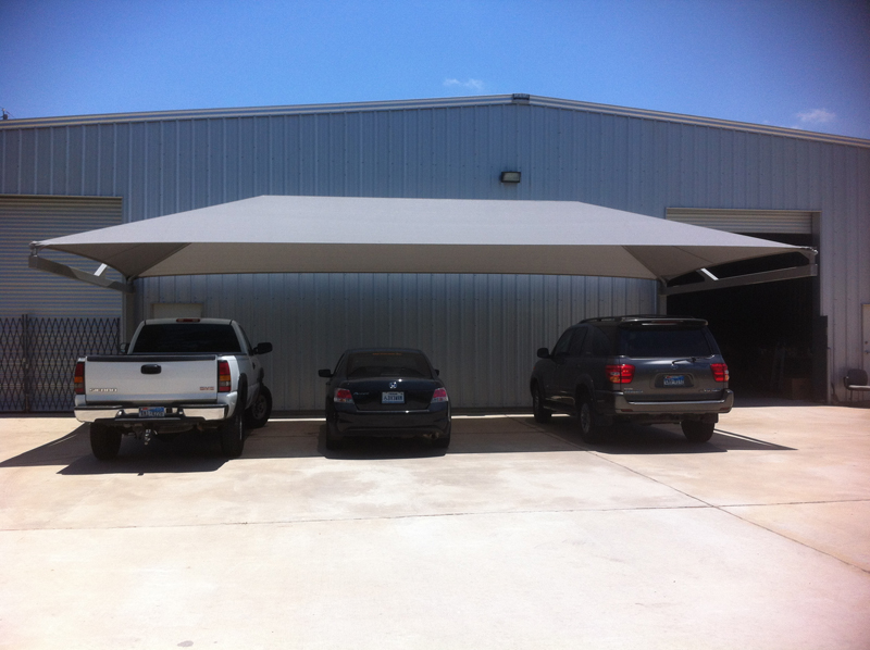 Awnings For Cars : Parking shade lot sails structures