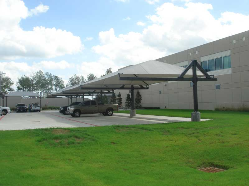 Metal Covered Parking : Parking shade lot sails structures