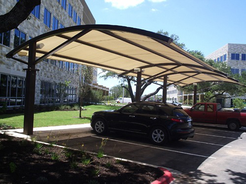 Parking shade parking lot shade sails shade structures for Park place motors service