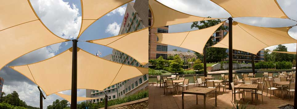 Affordable outdoor sun shade sails shade structures for Sun shade structure