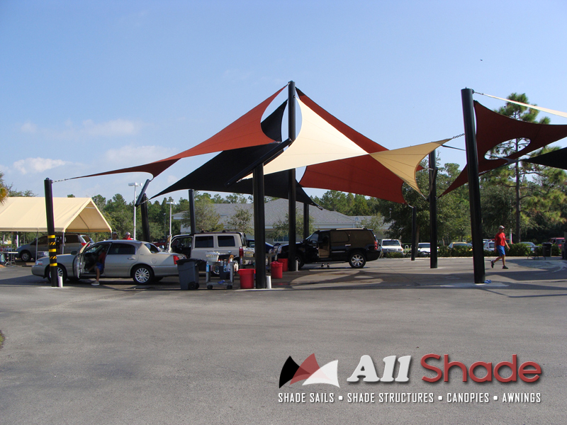 Carwash Shade Structure Sail Canopy Awning 1