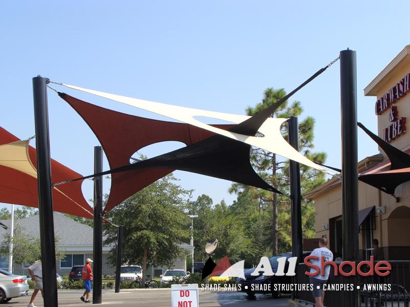 Carwash Shade Structure Shade Sail Canopy Awning (5)