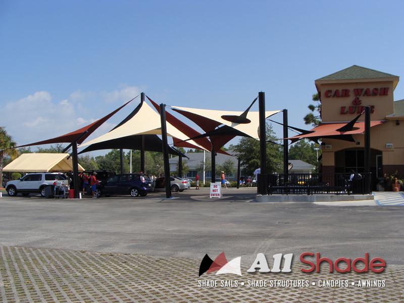 Carwash Shade Structure Shade Sail Canopy Awning (6)