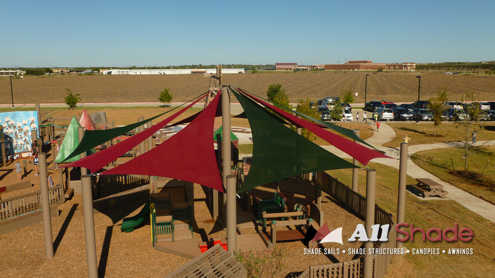 Playground Shade  Structure Shade Sail Canopy Awning  (1)