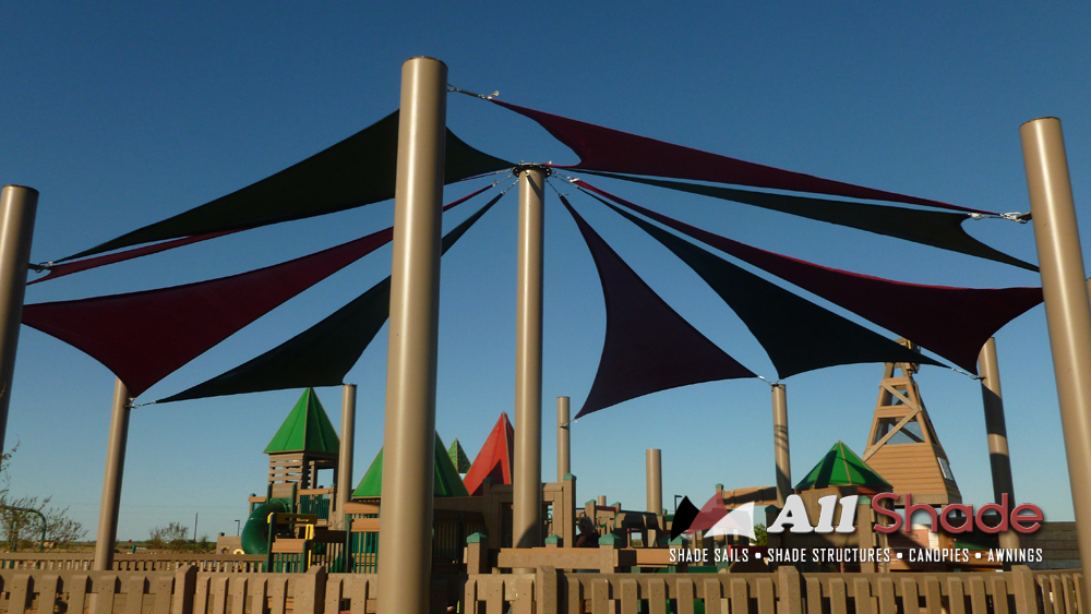 Playground Shade  Structure Shade Sail Canopy Awning  (10)
