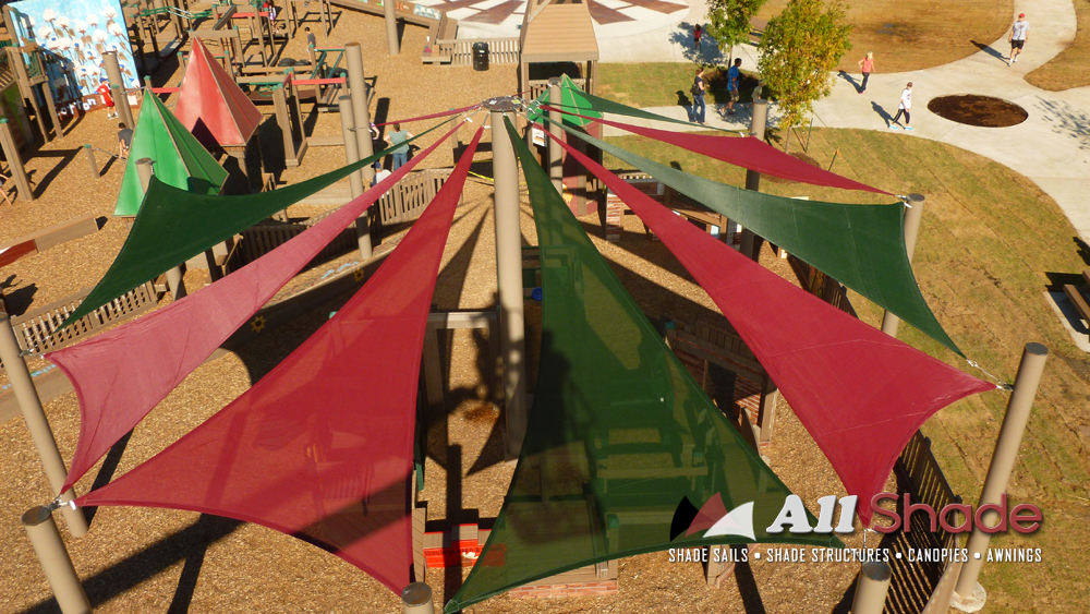 Playground Shade  Structure Shade Sail Canopy Awning  (2)