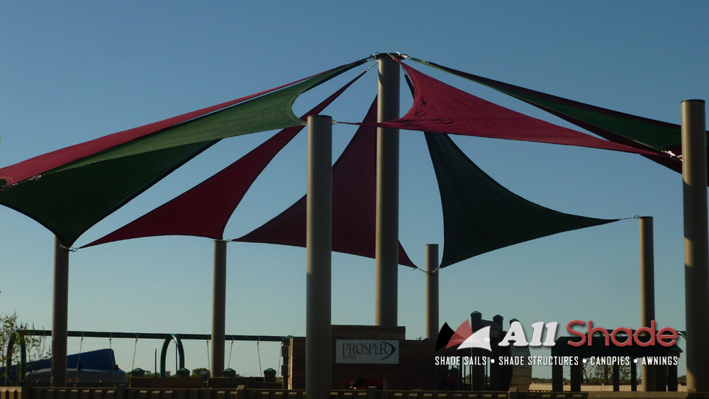 Playground Shade  Structure Shade Sail Canopy Awning  (6)
