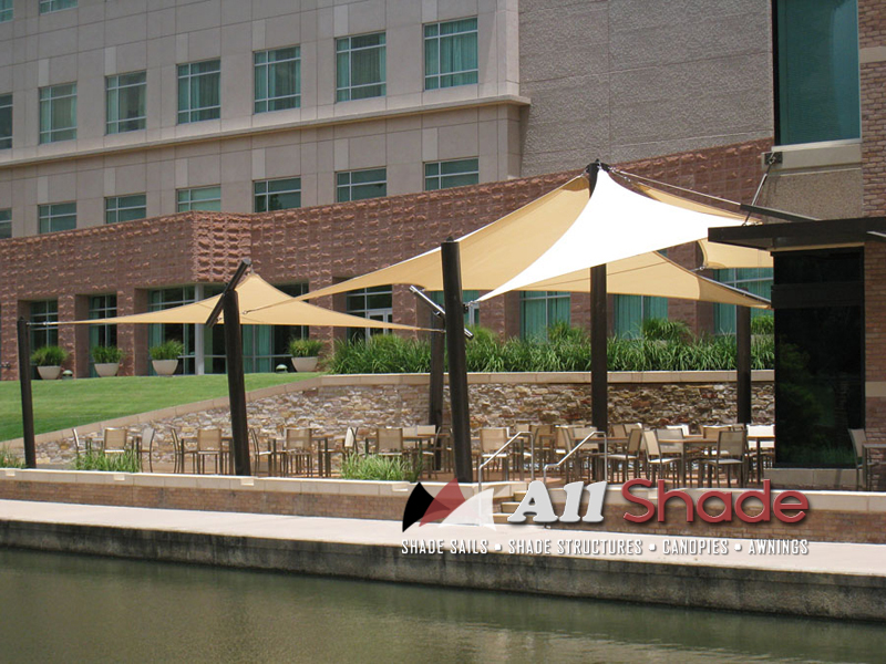Restaurant Awning Canopy Shade Sail Shade Structure (5)