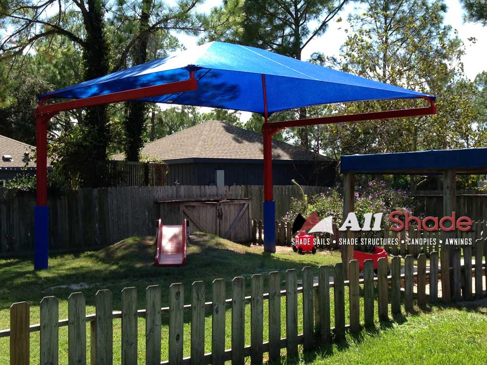 Playground Shade Structure Shade Sail Canopy Awning (8)