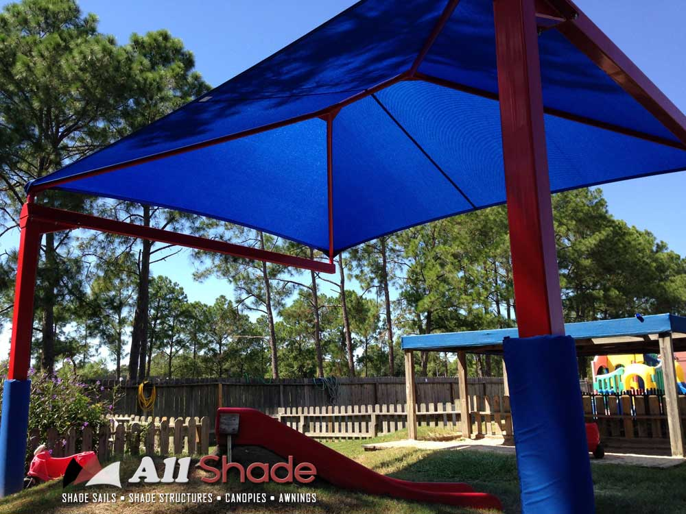 Playground Shade  Structure Shade Sail Canopy Awning (9)